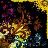 διάνυσμα απεικόνισης λουλουδιών φαντασίας Στοκ Εικόνα