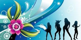 διάνυσμα απεικόνισης λουλουδιών χρώματος Στοκ εικόνα με δικαίωμα ελεύθερης χρήσης