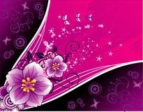 διάνυσμα απεικόνισης λουλουδιών Στοκ Φωτογραφία