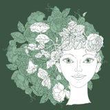 Διάνυσμα απεικόνισης ομορφιάς γυναικών ελεύθερη απεικόνιση δικαιώματος