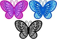 διάνυσμα απεικόνισης πεταλούδων Στοκ φωτογραφίες με δικαίωμα ελεύθερης χρήσης