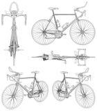 Διάνυσμα απεικόνισης ποδηλάτων διανυσματική απεικόνιση