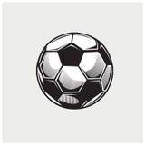 Διάνυσμα απεικόνισης της σφαίρας ποδοσφαίρου Στοκ φωτογραφία με δικαίωμα ελεύθερης χρήσης