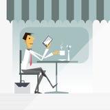 Διάνυσμα απεικόνισης του επιχειρηματία κινούμενων σχεδίων Διανυσματική απεικόνιση