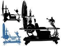 Διάνυσμα απεικόνισης χρονικών μηχανών Στοκ εικόνα με δικαίωμα ελεύθερης χρήσης