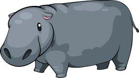 διάνυσμα απεικόνισης hippo Στοκ Εικόνα