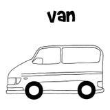 Διάνυσμα απεικόνισης van car Στοκ φωτογραφία με δικαίωμα ελεύθερης χρήσης