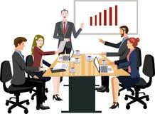 Διάνυσμα - απεικόνιση επιχειρησιακής συνεδρίασης απεικόνιση αποθεμάτων