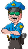 Διάνυσμα αστυνομικών Στοκ Εικόνες