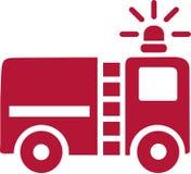 Διάνυσμα αυτοκινήτων πυροσβεστών απεικόνιση αποθεμάτων