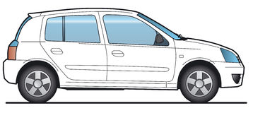 διάνυσμα αυτοκινήτων Στοκ Εικόνα