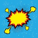 Διάνυσμα λαϊκός-τέχνης φυσαλίδων ατμού έκρηξης - αστείο φοβιτσιάρες έμβλημα κωμικό απεικόνιση αποθεμάτων