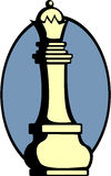 διάνυσμα βασίλισσας κομματιού παιχνιδιών σκακιού Στοκ εικόνα με δικαίωμα ελεύθερης χρήσης