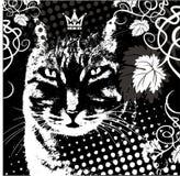 διάνυσμα βασιλιάδων γατών Στοκ Εικόνα