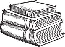 Διάνυσμα βιβλίων Doodle διανυσματική απεικόνιση