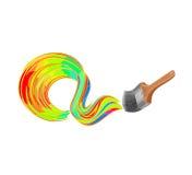 Διάνυσμα βουρτσών χρωμάτων Στοκ φωτογραφία με δικαίωμα ελεύθερης χρήσης