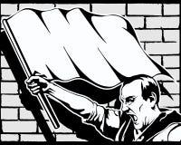 Διάνυσμα γκράφιτι επαναστάσεων απεργίας διαμαρτυρίας πυγμών Στοκ Εικόνες