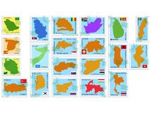 διάνυσμα γραμματοσήμων σ&upsi Στοκ Εικόνες
