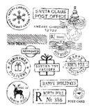 Διάνυσμα γραμματοσήμων Χριστουγέννων απεικόνιση αποθεμάτων