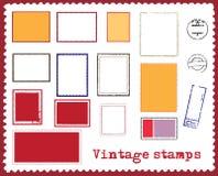 διάνυσμα γραμματοσήμων Στοκ Εικόνες