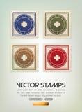 διάνυσμα γραμματοσήμων Στοκ φωτογραφία με δικαίωμα ελεύθερης χρήσης