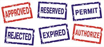 διάνυσμα γραμματοσήμων Στοκ εικόνα με δικαίωμα ελεύθερης χρήσης