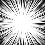 Διάνυσμα γραμμών ταχύτητας Manga Grunge Ray Illustration μαύρο λευκό Διάστημα για το κείμενο Ακτινωτό πλαίσιο υποβάθρου γραμμών κ απεικόνιση αποθεμάτων
