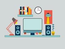 Διάνυσμα γραφείων εργασιακών χώρων επιχειρηματιών ελεύθερη απεικόνιση δικαιώματος