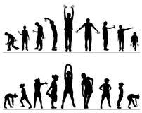 διάνυσμα γυμναστικής ικ&alph απεικόνιση αποθεμάτων