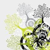 διάνυσμα δέντρων ανασκόπησης grunge Στοκ εικόνες με δικαίωμα ελεύθερης χρήσης