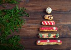 διάνυσμα δέντρων απεικόνισης ανασκόπησης Η έννοια των Χριστουγέννων Στοκ Εικόνες