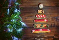 διάνυσμα δέντρων απεικόνισης ανασκόπησης χαιρετισμός Η έννοια των Χριστουγέννων και νέος Στοκ φωτογραφία με δικαίωμα ελεύθερης χρήσης