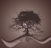 διάνυσμα δέντρων απεικόνι&sigma Στοκ εικόνα με δικαίωμα ελεύθερης χρήσης