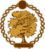 διάνυσμα δέντρων ετικετών Στοκ Εικόνα