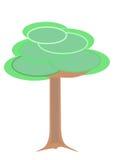 διάνυσμα δέντρων κρητιδογραφιών Στοκ Εικόνες