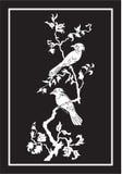 διάνυσμα δέντρων πουλιών Στοκ Εικόνα