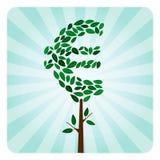 διάνυσμα δέντρων χρημάτων eco Στοκ Φωτογραφίες