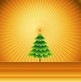 διάνυσμα δέντρων illustra Χριστο&ups Στοκ Φωτογραφία