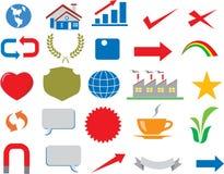 Διάνυσμα - διάφορο λογότυπο Infographic επιχειρησιακών εικονιδίων ελεύθερη απεικόνιση δικαιώματος