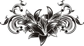 διάνυσμα διακοσμήσεων λουλουδιών Στοκ Εικόνες