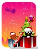 διάνυσμα δώρων Χριστουγέν& Στοκ φωτογραφία με δικαίωμα ελεύθερης χρήσης