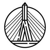 Διάνυσμα εικονιδίων γεφυρών Zakim διανυσματική απεικόνιση