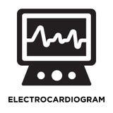 Διάνυσμα εικονιδίων ηλεκτροκαρδιογραφημάτων που απομονώνεται στο άσπρο υπόβαθρο, λογότυπο απεικόνιση αποθεμάτων