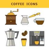Διάνυσμα εικονιδίων καφέ Στοκ Φωτογραφίες