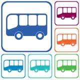 Διάνυσμα εικονιδίων λεωφορείων Στοκ εικόνα με δικαίωμα ελεύθερης χρήσης