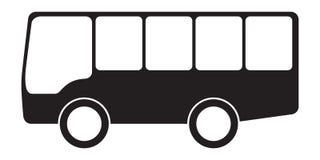 Διάνυσμα εικονιδίων λεωφορείων Στοκ Φωτογραφίες
