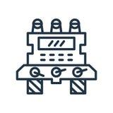 Διάνυσμα εικονιδίων μηχανών που απομονώνεται στο άσπρο υπόβαθρο, σημάδι μηχανών ελεύθερη απεικόνιση δικαιώματος