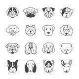 διάνυσμα εικονιδίων 16 σκυλιών ελεύθερη απεικόνιση δικαιώματος