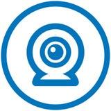 διάνυσμα εικονιδίων webcam Στοκ εικόνα με δικαίωμα ελεύθερης χρήσης