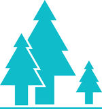 Διάνυσμα εικονιδίων δέντρων Στοκ Φωτογραφία